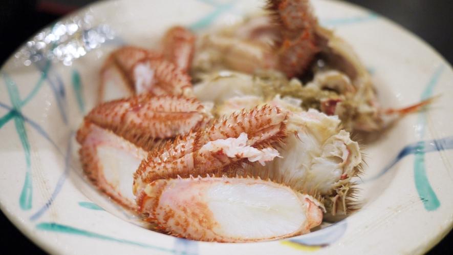 *夕食一例/身もカニ味噌もぎっしりと詰まっています!