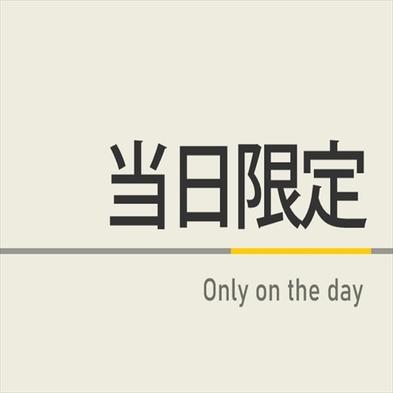 【当日限定】当日のご予約でお得に!☆人工炭酸泉◇素泊まり◇