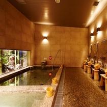 ♡【茜草の湯③】:2つの浴槽は温度が違うので、是非お試しください☺