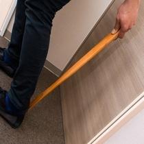 ♡【くつべら】:玄関にあります。長いくつべらなので、かがまなくても靴を履く事が可能です♪
