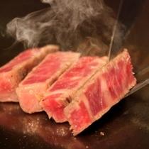 焼き立てのステーキ(一例)