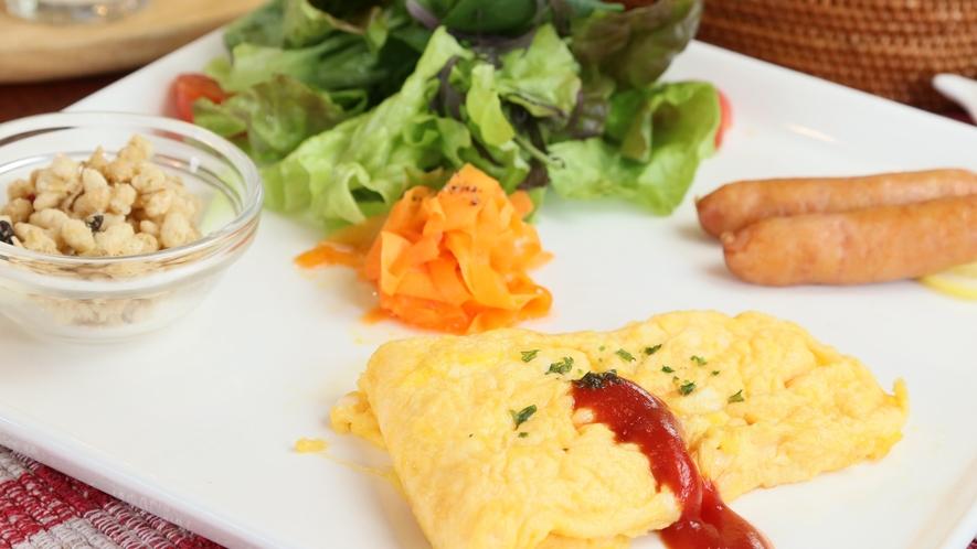 フレッシュな高原野菜を使用した朝食