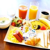 ボリューム満点の朝食です。
