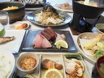【夕食】板前の無添加和食とサラダバー