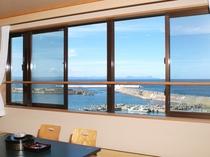 【客室からの景色】天気が良ければ北海道も見えます