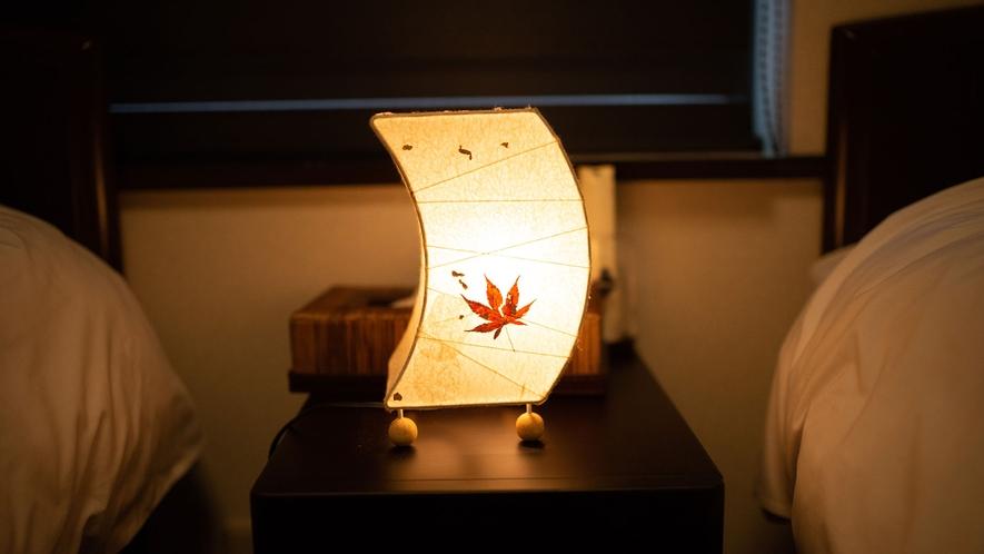 ・2Fツインルーム 柔らかな光に包まれてお休みください