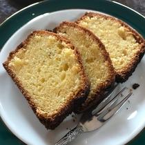 デザートに手作りパウンドケーキをお出しする日もございます