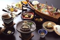 おまかせ海鮮会席料理(イメージ)+黒鮑の残酷焼