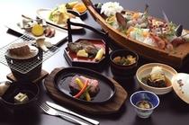おまかせ海鮮会席料理(イメージ)+和牛ステーキ