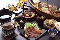 おまかせ海鮮会席料理(イメージ)+イベリコ豚しゃぶしゃぶ