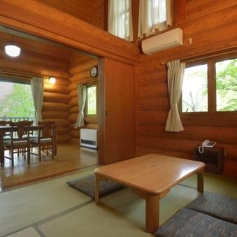 木の温もり溢れるカナダ産ログハウス ※和洋室 キッチン完備