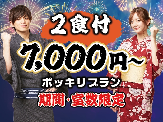 【(金)〜(日)室数限定】2食付き/7,000円〜 ポッキリプラン♪
