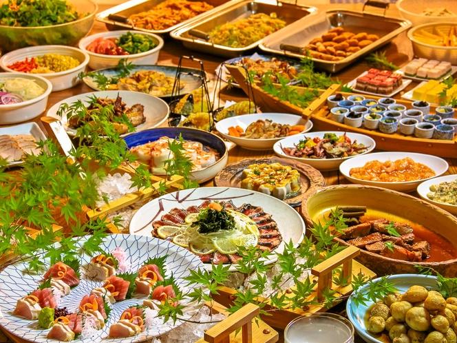 【夕食】和洋織りなす食事をお楽しみください。