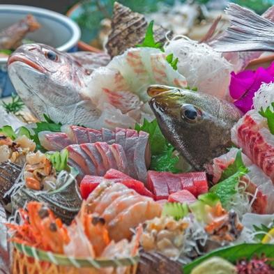 【魚尽くし!新鮮魚介の姿造り付】魚好きには堪らない魚介尽くしのフルコース!
