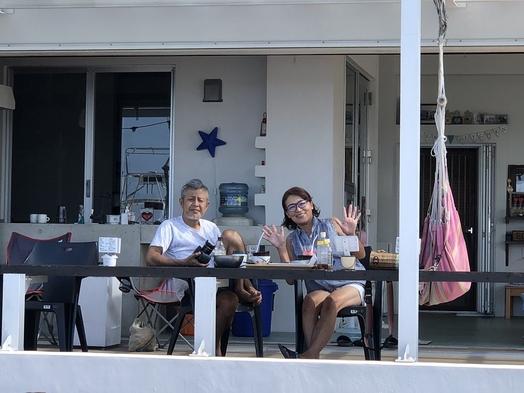 テラスで海を眺めながら食べる美味しい朝食、夕食付きプラン(2〜4名様)