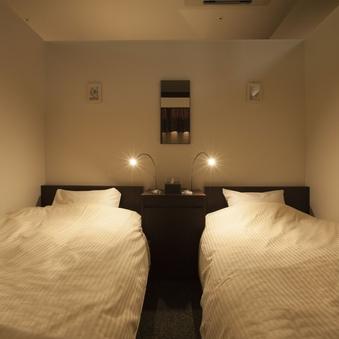 健康ランドの簡易宿泊【女性限定・半個室デラックスツイン】