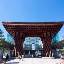 【観光情報】JR金沢駅 鼓門
