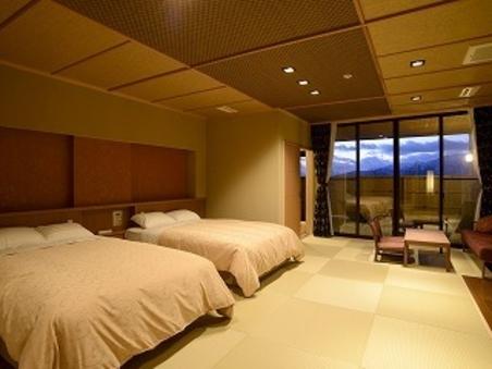 【温泉・飛騨牛】露天風呂付客室 1泊2食付 和洋室