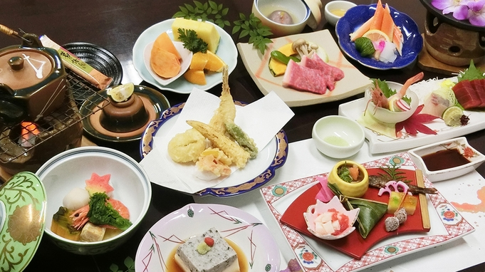 【メインは奈良県産のお肉料理★】旬魚も旬野菜も楽しむ!グレードアップ会席プラン♪