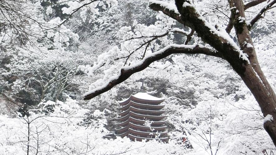 冬 白銀の談山神社