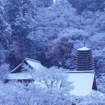 談山神社 雪景色(館内より撮影)