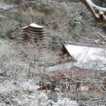 冬 雪の談山神社
