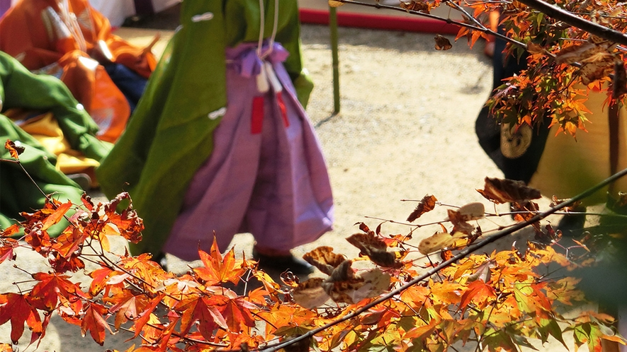 秋の蹴鞠会 談山神社