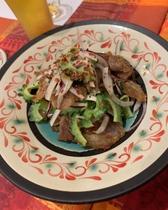 やんばる豚肩ロース肉とゴーヤのチリマヨ