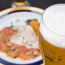*地ビール/夕食が進む~!3種類の地ビールをご用意しております。