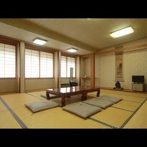 【和室15畳一例】グループ旅行にぴったりの広い和室です。
