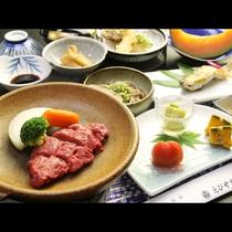 【ご夕食一例】山形県の食材を使った、手作り中心の素朴な郷土料理の数々。