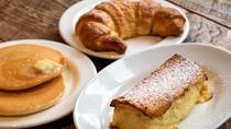 朝食パンイメージ(フレンチトースト・パンケーキ・クロワッサン)
