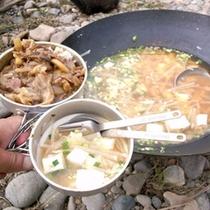 *【アクティビティ/お食事】自然に囲まれた中で食べるご飯は格別です!