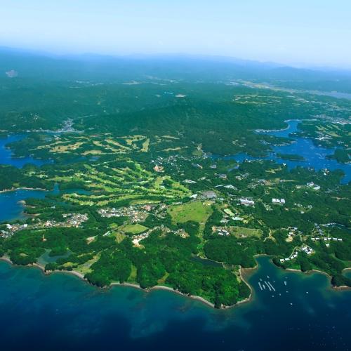 【NEMU RESORT 全景】伊勢志摩の海と森に囲まれた当リゾート。
