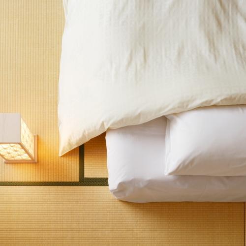 【スーペリアタタミルーム】2017年3月「こだわりの寝具」に一新。快適な睡眠をお約束いたします。