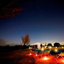 てふてふの丘からの星空は格別! ★冬季には星空観察プログラムの開催