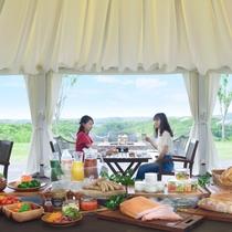 【朝食:グランピング朝食イメージ】※4/27~11/30 オープンテラスで愉しむ特別朝食
