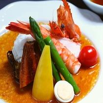 ■夏野菜と海老のサラダ仕立て