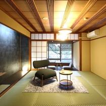 【リニューアル西館】和室8畳のお部屋タイプです。