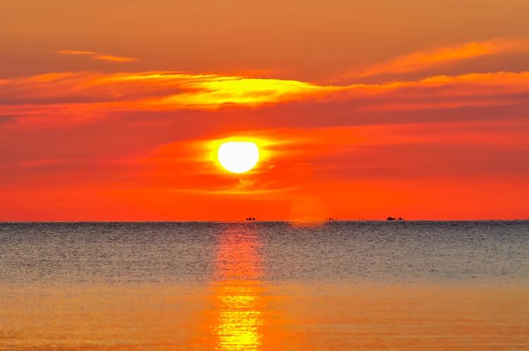 弓ヶ浜の朝陽