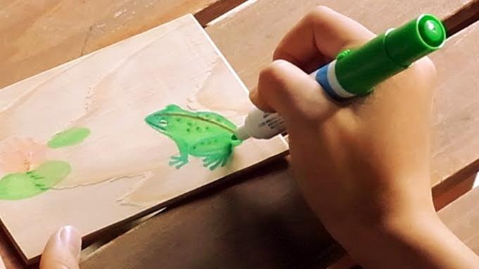 【木はがき作成体験】書いて楽しい!もらって嬉しい!三河杉の木はがきを作ろう