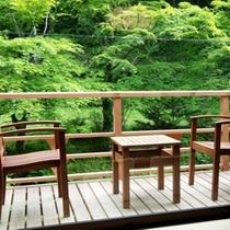 自然豊かな軽井沢を満喫できるテラスです。