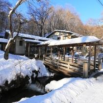 雪化粧の小瀬温泉ホテルにお越しください!