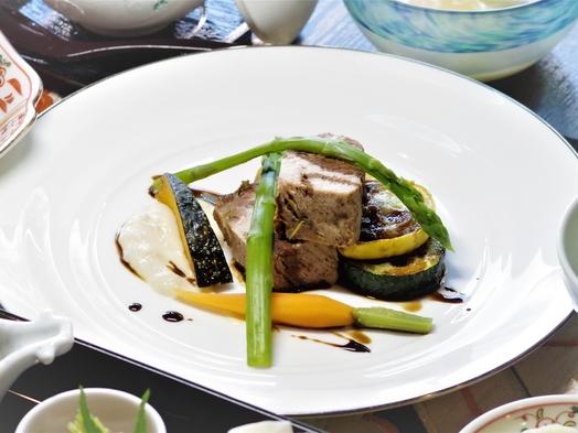 【本館】美味しいブランド豚「美星豚」の塩蒸しと旬なお魚を愉しむ会席プラン【2食付】