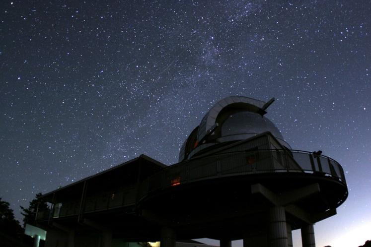 美星天文台と満点の星空