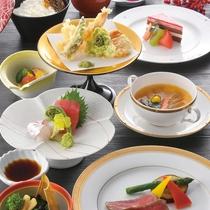三陸旬の地魚・季節の野菜・肉料理 美味満載コース(おもてなし会席)