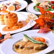 三陸の海の幸たっぷりのお料理。洋食も好評です。