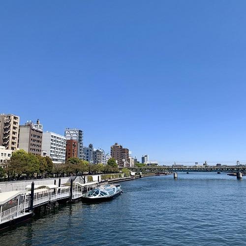 吾妻橋から見た隅田川