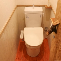 すべてのトイレが温水洗浄機能付き。