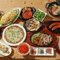 北海道ならではのお料理を取り揃え。